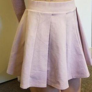 Forever 21 Skater Skirt Dusty Pink
